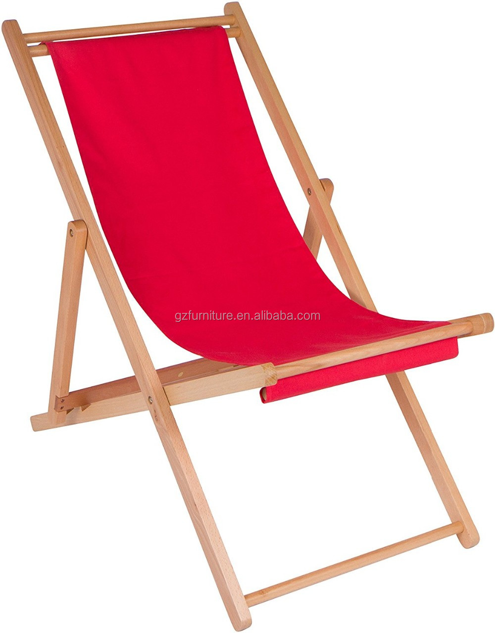 3 Position Colorful Fabric Sling Folding Adjustable Beach Chair