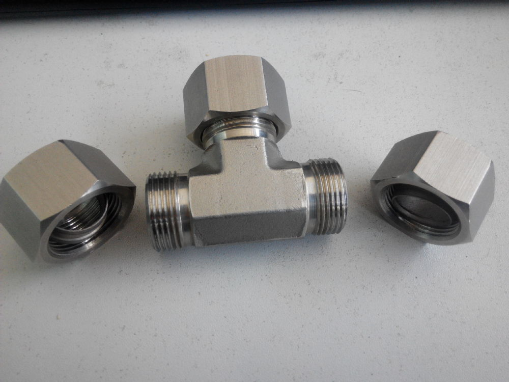 Npt compression fitting hydraulic fittings way