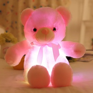 50cm Creative Light Up LED Teddy Bear .Stuffed Animals Plush Toy Colorful Glowing Teddy Bear Christmas Gift for Kids