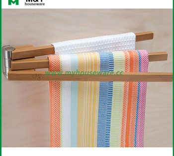 Bamboo Swing Arm Kitchen Towel Rack