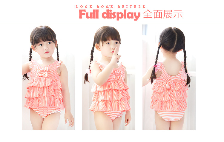 2018 Most Popular Comfortable Beautiful Kawaii Pure Color Swimwear For Girls