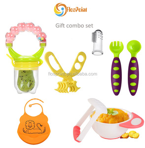 2018 christmas new year promotional products combo feeding teething new baby gift set