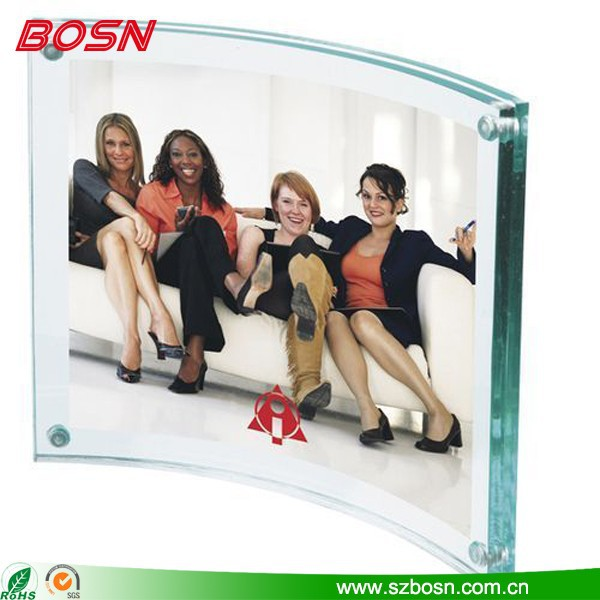 Glass Color Acrylic Picture Frame Curved