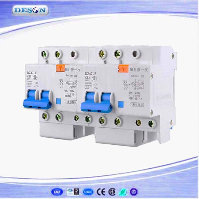 Low Voltage Device Dz47le Earth Leakage Circuit Breaker Mcb Types ...