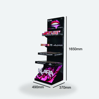 POS Beauty Products Display Shelf, Makeup Mac Cosmetic Display Stand