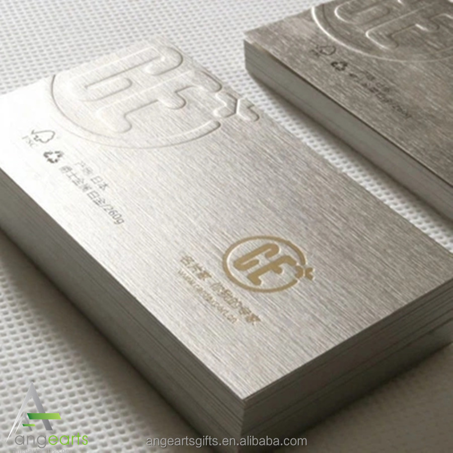 Hot stamping concave and convex high-end specialty paper card custom Sir/creative business card