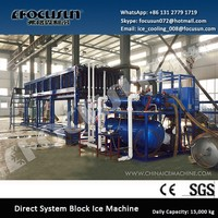 Industrial Block Ice Machine Direct System Ice Maker 15 Tons/Day with Ice Crusher Available