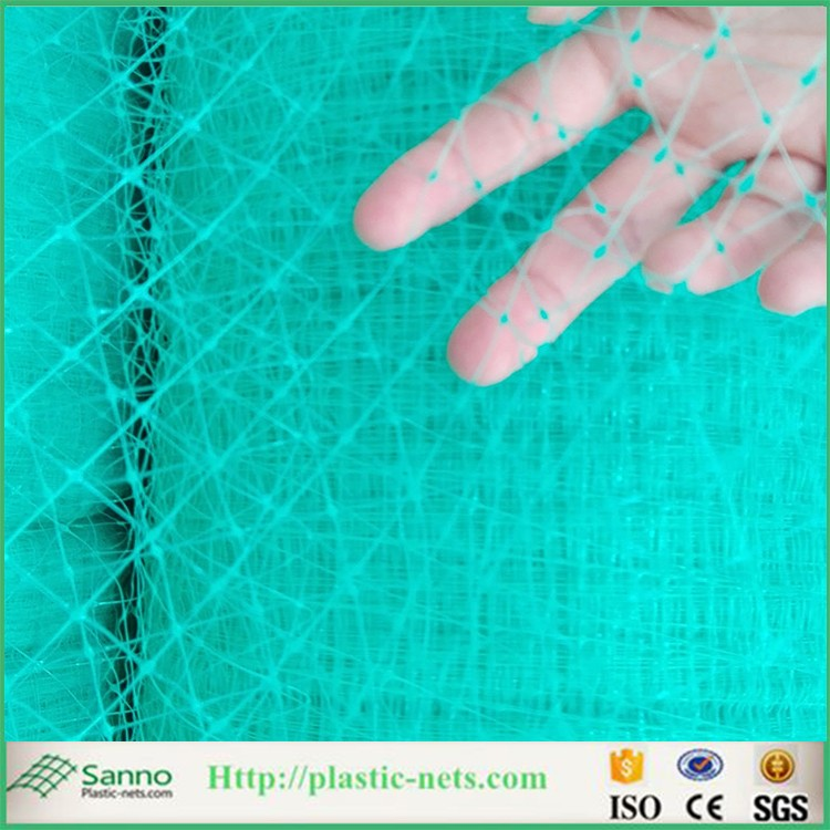 Black polypropylene safety used netting /pond protection net