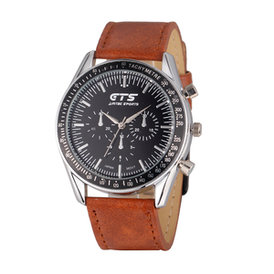 Hot sale leather watch strap create your own mens sports watch with cheap price
