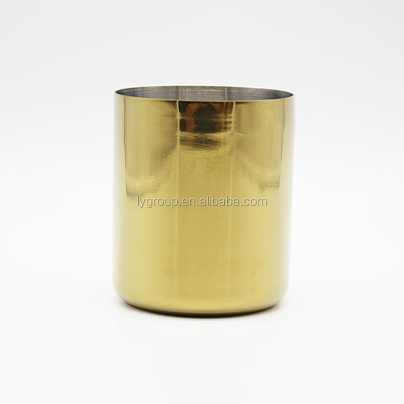 13OZ Stainless Steel Soy Candle Jar, Stainless steel gold candle holder 400ml