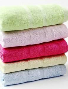 Bamboo Fiber Bath Towel 3pcs / Set Blue / Green / Pink / Yellow / Red, Jacquard,140*70cm , light blue