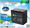 12v 55ah VRLA storage battery for UPS system