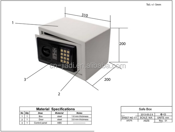 Factory OEM home usage electronic safe box