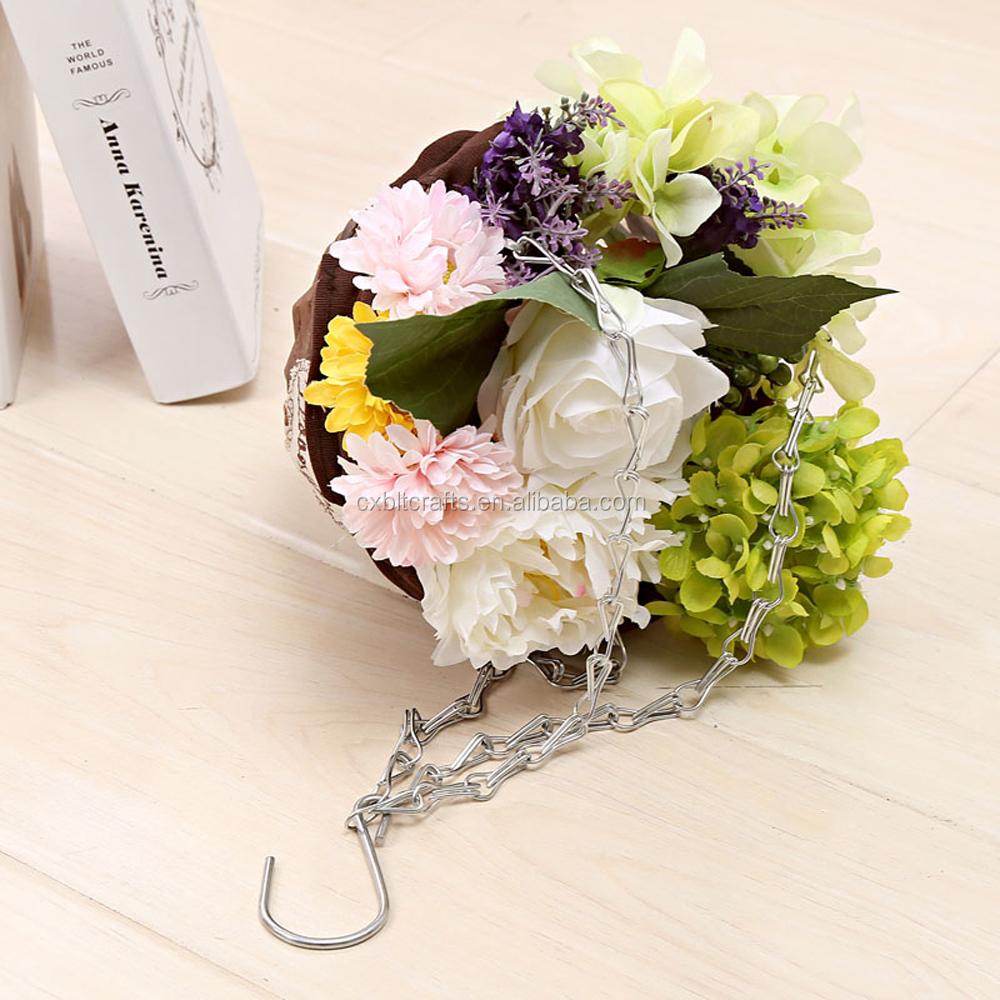 jardin fleur l gumes panier suspendu planteur panier en osier pour jardin d coration panier. Black Bedroom Furniture Sets. Home Design Ideas