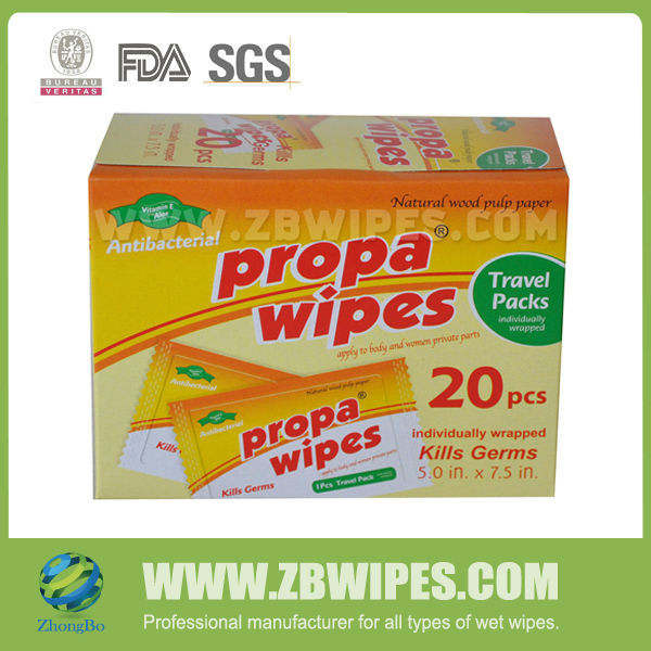 24 pack Antiperspirant Female Wipes Box