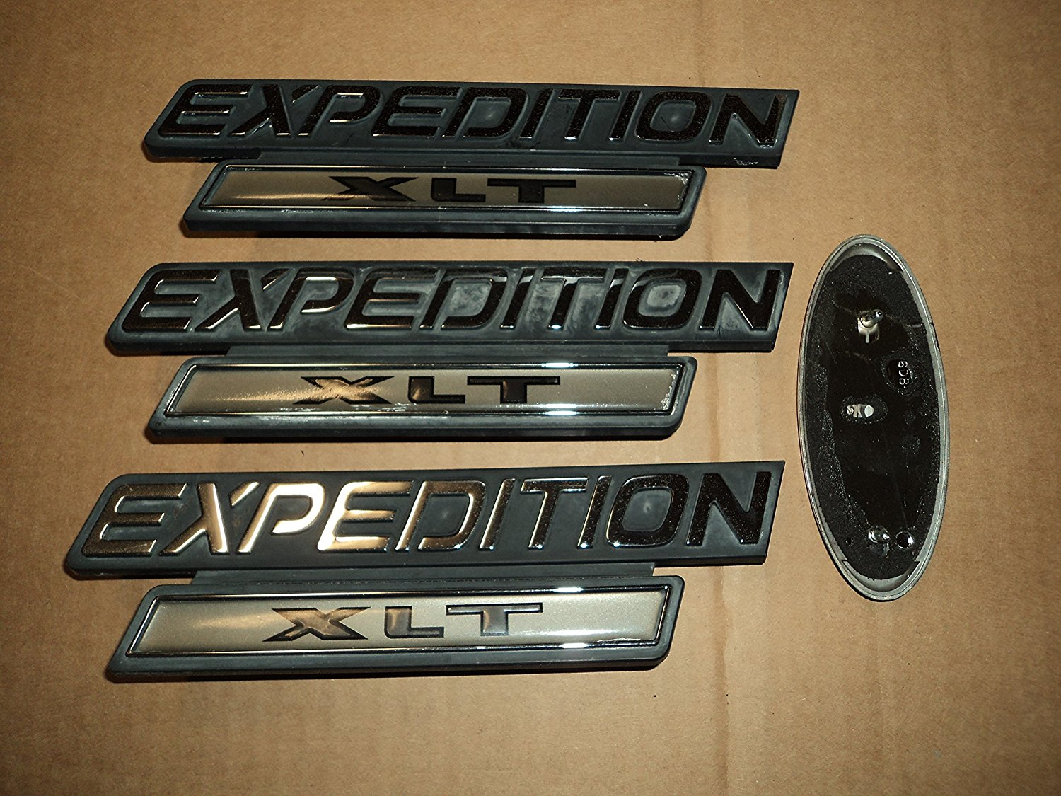 98-02 Ford Expedition Xlt Side Door Fender Logo F75B-16B114-FA Tailgate XL14-7443156-AB Used Emblem F6DB-7443156-AB Nameplate Decal Set Of 4 Decals