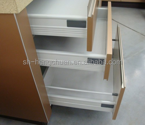 Kitchen cabinet telescopic drawer slide channel tandem box