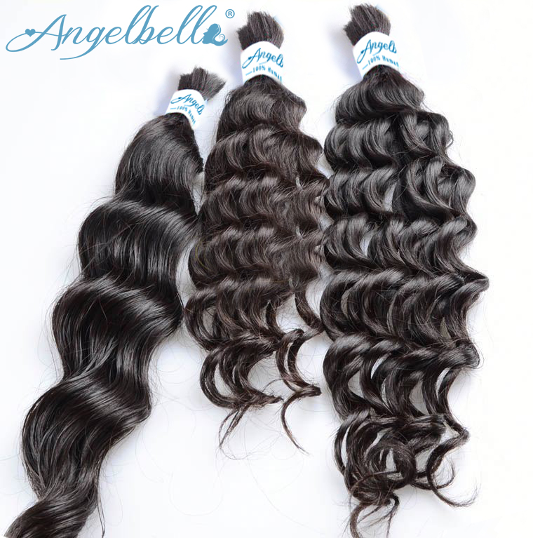 Angelbella All Textures Cheap 100% Brazilian Bulk Hair Box Braids Human Hair Best Selling Wholesale Top Brazilian Bulk Hair for
