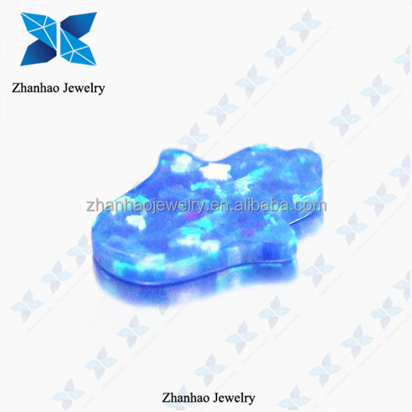 Synthetic Blue Opal for Jewelry Hamsa Gemstone Hand Opal