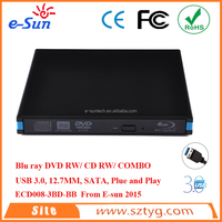 External USB 3.0 Blue Ray DVDRW/ DVD COMBO / CD RW Drive sata hard drives/DVD burner