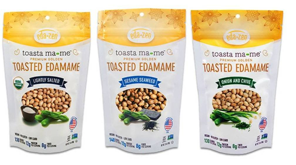 Toasta Ma-me Gluten-Free Organic Toasted Edamame Snack 3 Flavor Variety Bundle: (1) Toasta Ma-me Lightly Salted, (1) Toasta Ma-me Sesame Seaweed, and (1) Toasta Ma-me Onion & Chive, 3.5 Oz Ea (3 Tot)
