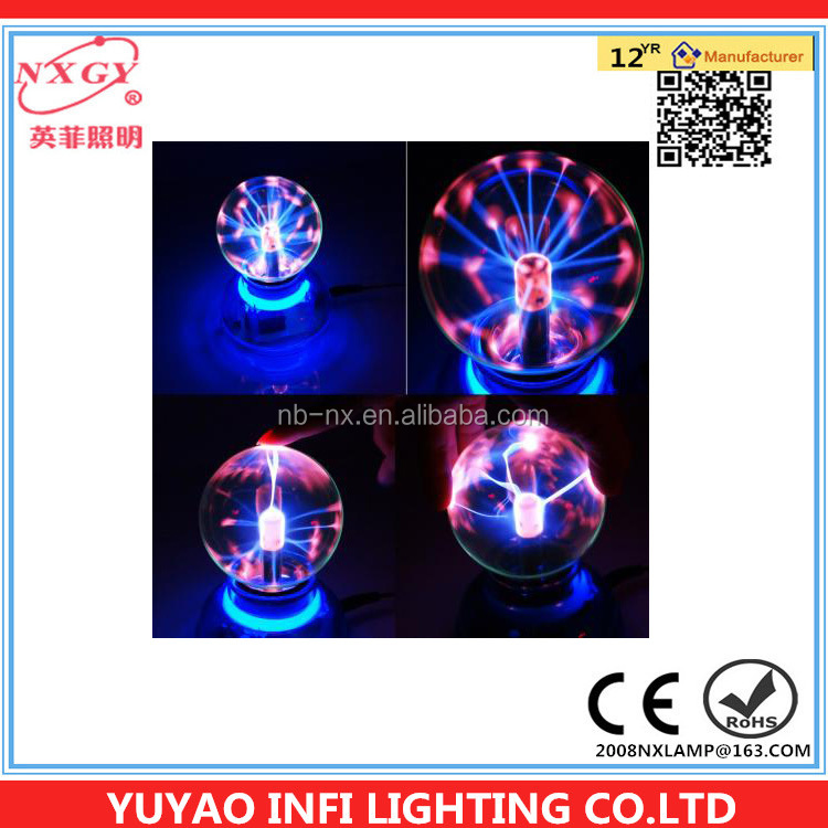 New Magic Plasma Crystal Desktop Ball Decoration USB DC Powered Touch Light Toy