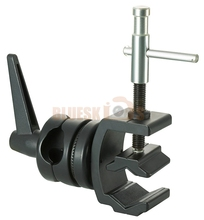 "Photography Pipe Clamp with 5/8"" Stud and Grip Head"