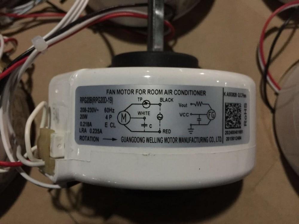 Welling air conditioner indoor fan motor rpg20d 19 view for Fan motor for air conditioner