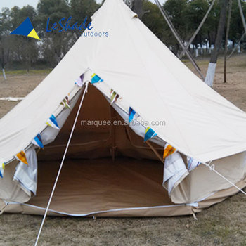 5.45M gl&ing lodge tent with 100%cotton canvas 38mm steel poles & 5.45m Glamping Lodge Tent With 100%cotton Canvas 38mm Steel Poles ...