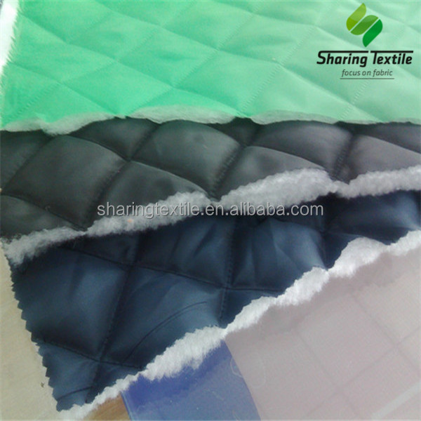 Diamond quilted fabric/Quilted mattress ticking fabric/Quilted satin fabric