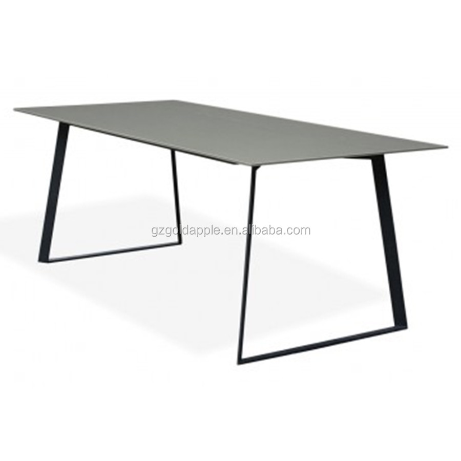 Modern metal dining table, restaurant table 120cm