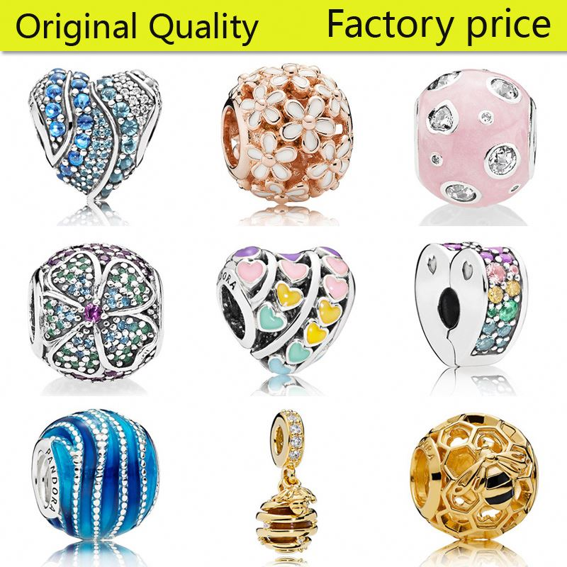 STARLAND Beads Fit Pandoras Charms Silver 925 Sterling Jewelry DIY BEAD New Design Factory price wholesale