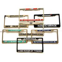 Custom car license plate frame with YOUR TEXT