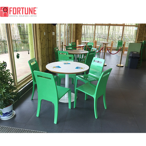 Restaurant furniture round table I with green plastic chair atlanta ga