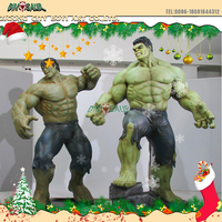 Life Size Cartoon Character Statue,Fiberglass Captain American,The Hulk,Ninja Turtles