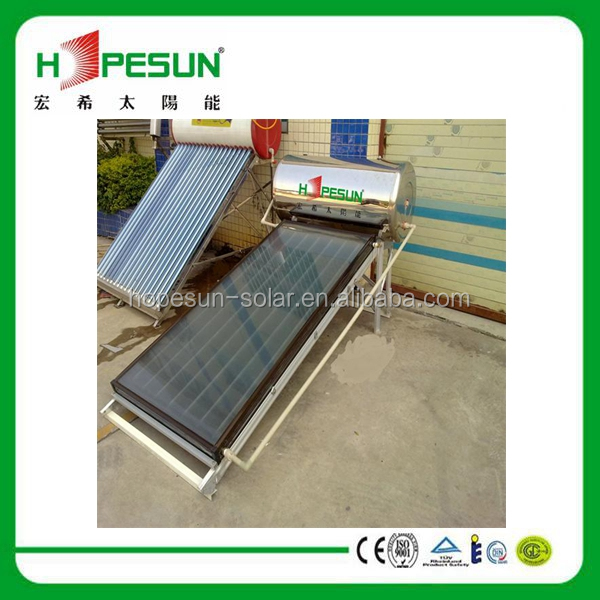 2014 Sturdy construction thermosyphon flat plane solar water heater