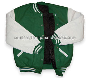 Wool And Leather Varsity Jackets , School College Varsity Jackets
