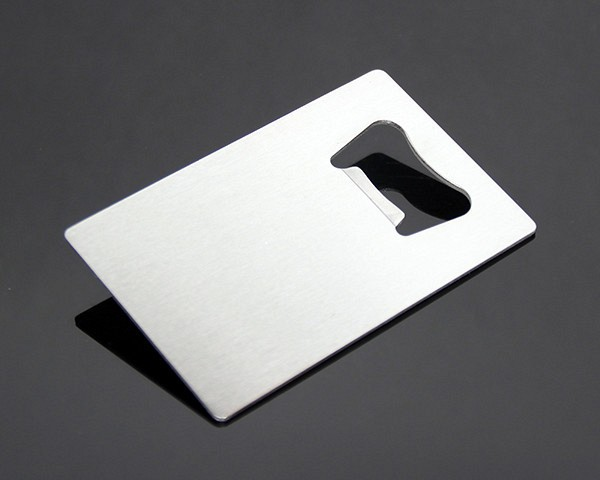 Wholesale Custom Credit Card Wallet Size Square Shaped Promotional Bulk Stainless Steel Metal Bottle Opener Credit Card