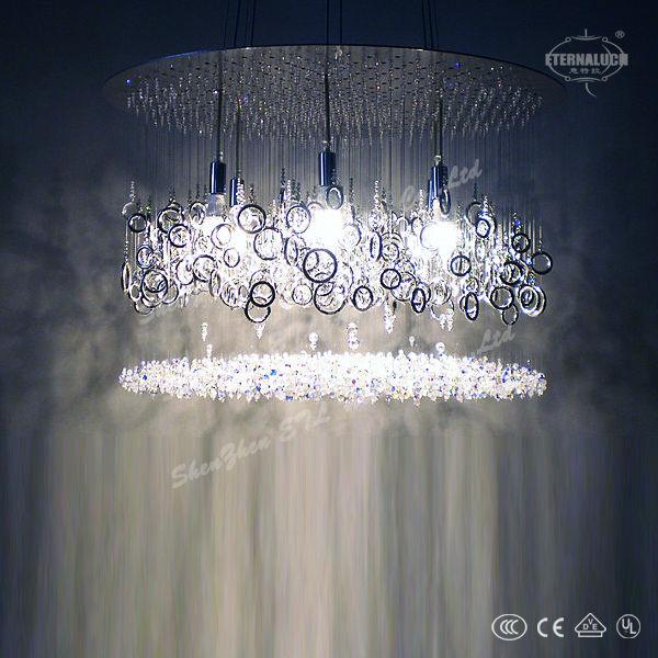 2014 francia villa moderna lámparas de cristal de la escalera ...