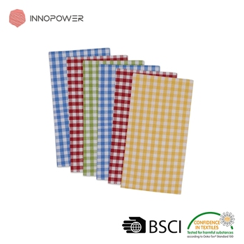 Cotton assorted small check buffet gingham cotton napkin