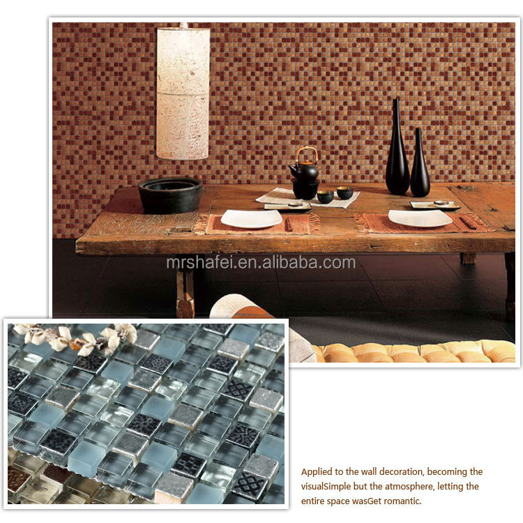 Decorative Tile Roma Style Art Pattern Mosaic Tile Mix Crystal ...