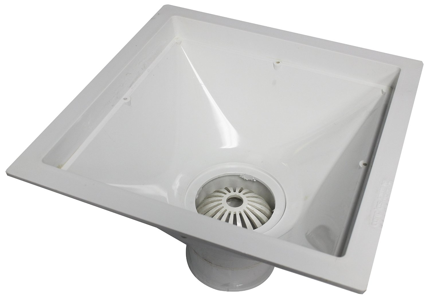 Endura 394723 12-Inch by 12-Inch by 6-Inch PVC Floor Sink for Standard Floor with 3-Inch Hub