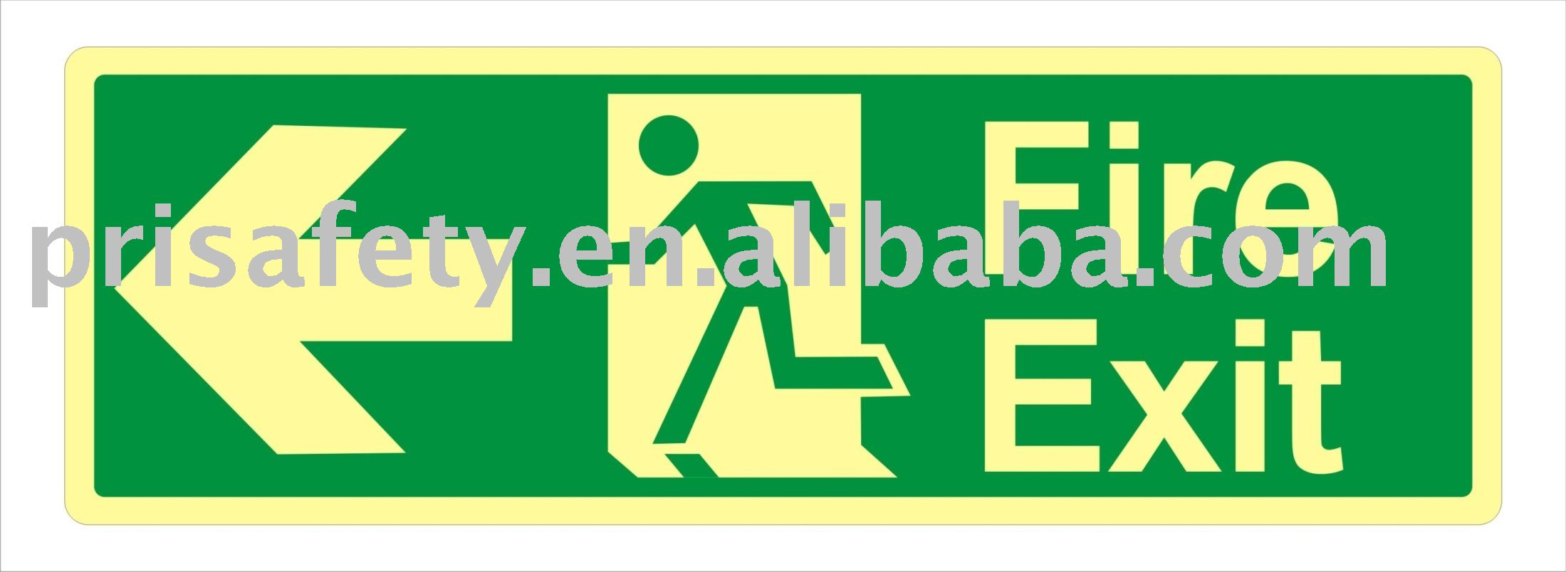 fire and safety signs, luminious