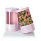 custom luxury cylinder flower box with clear pvc window