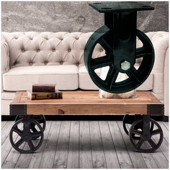 Wbd Factory Direct Cast Iron Table Leg Castor Casters Product On Alibaba