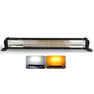 22 32 42 52 Inch Triple Row Curved Led Strobe Light Bar Orange