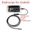5M USB Android Inspection Endoscope Camera Underwater Tube Snake Micro-cameras 6Led for Windows PC