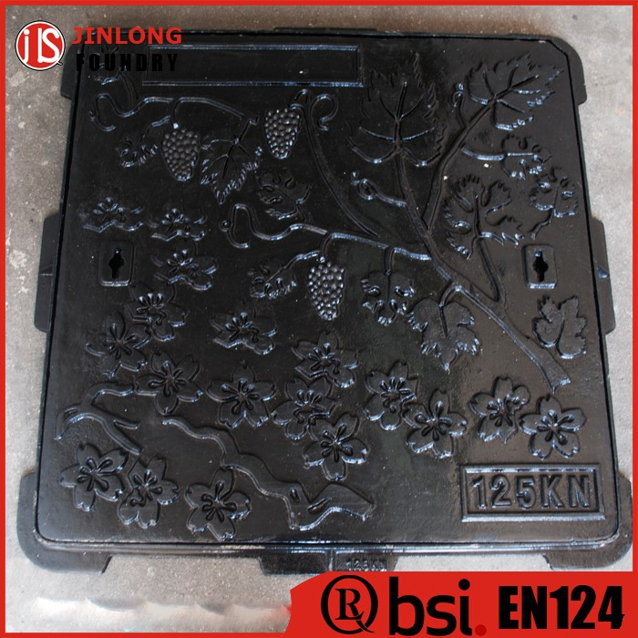 EN124 cast iron garden art manhole covers factory sale