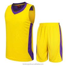 Hot sell quick-fit yellow basketball wear from China manufacturer