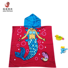 Cotton Cartoon Printed Kids Hooded Beach Towels
